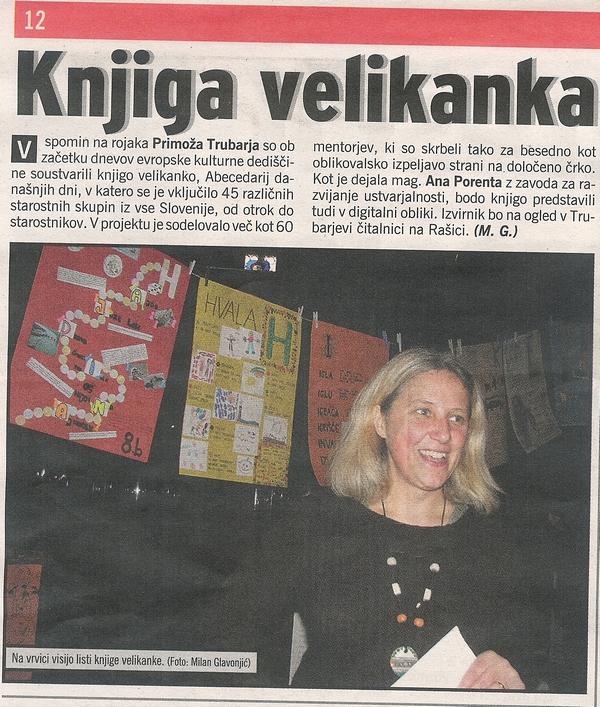 Slovenske novice 14.10.2008